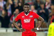 LYON - 23-02-2017, Olympique Lyon - AZ, Parc Olympique Lyonnais Stadion, teleurstelling, AZ speler Derrick Luckassen na de 1-0.