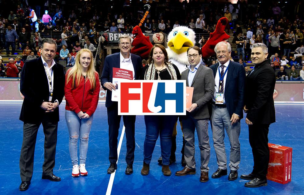 BERLIN - Indoor Hockey World Cup<br /> Bronze: Iran - Australia<br /> Iran won the 3rd place.<br /> foto: Turkish Airlines.<br /> WORLDSPORTPICS COPYRIGHT FRANK UIJLENBROEK
