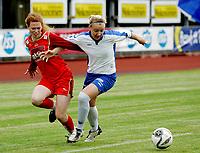 Fotball , 18.08.2008  , Toppserien for Kvinner Kolbotn - Fløya  Sofiemyr Stadion<br /> Kolbotns Rebecca Angus arm i arm med June Hammersland<br /> Foto : Eirik Førde