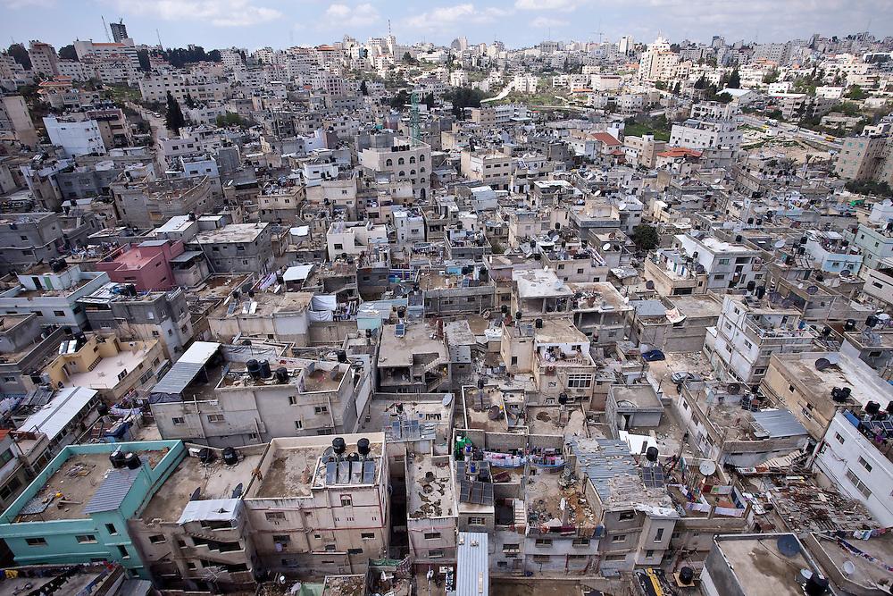 (03/26/11 West Bank)   The Al Amari Refugee Camp for Palestinians in  the town of Al Bireh on Jerusalem Road in the West Bank.    [WILLIE J. ALLEN JR.]
