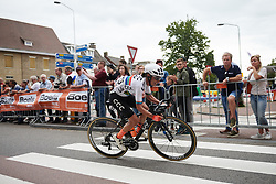 Ashleigh Moolman Pasio (RSA) solo at Boels Ladies Tour 2019 - Stage 1, a 123 km road race from Stramproy to Weert, Netherlands on September 4, 2019. Photo by Sean Robinson/velofocus.com