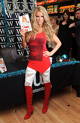 Katie Price signs copies of her new book 'Santa Baby' at Waterstones, Bluewater , Kent, Saturday, 4th November 2011.  Photo by: i-Images