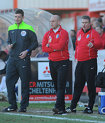 Mansfield Town Manager, Adam Murray - Photo mandatory by-line: Nizaam Jones  - Mobile: 07966 386802 - 07/03/2015 - SPORT - Football - Cheltenham - Whaddon Road- Cheltenham Town v Mansfield - Sky Bet League Two