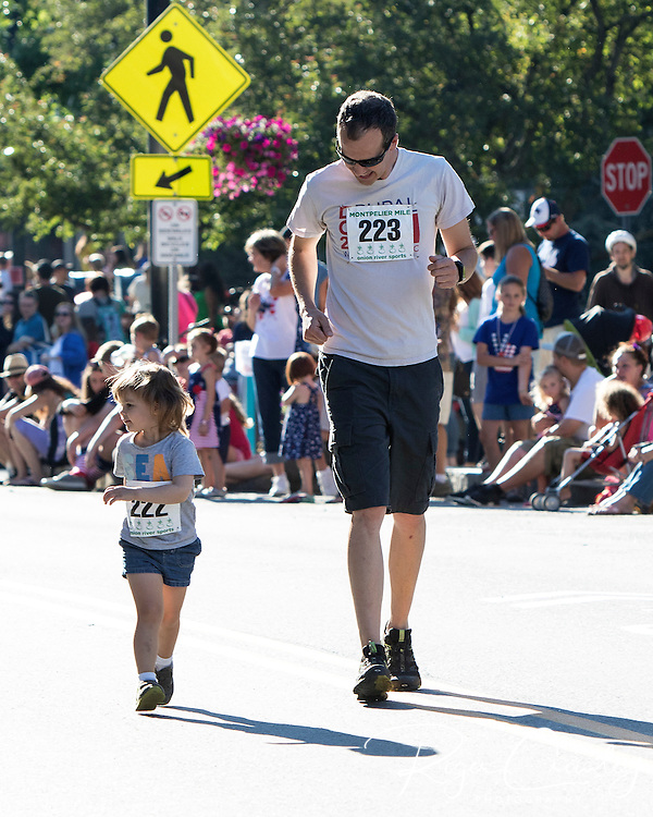 MONTPELIER VT - 2016 Independence Day Celebration kicked off with the Montpelier Mile run and followed by parade, State House lawn activities, music and fireworks.
