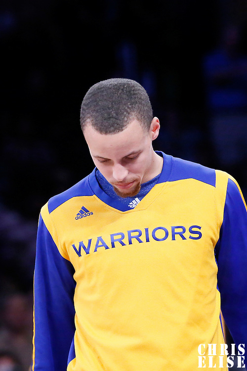 11 April 2014: Golden State Warriors guard Stephen Curry (30) is seen during the players introduction prior to the Golden State Warriors 112-95 victory over the Los Angeles Lakers at the Staples Center, Los Angeles, California, USA.