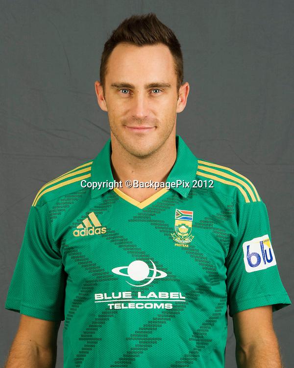Faf du Plessis (capt) of South Africa