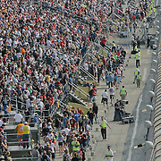 Dover Crowd during a cuation flag at the Sprint Cup race at Dover International Speedway in Dover Delaware.