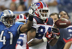 June 8, 2017 - (File Photo) - A body found in an Indiana river on Wednesday has been identified by the county's coroner as former Buffalo Bills receiver And IU football star James Hardy, 31, of Fort Wayne. PICTURED: Sep. 02, 2010 - Detroit, Michigan, United States of America - Detroit Lions cornerback DANTE WESLEY(41) knocks the ball away from Buffalo Bills wide receiver JAMES HARDY (84) during the third quarter at Ford Field. Detroit Lions defeated Buffalo Bills 28 - 23 at Ford Field. (Credit Image: © Rey Del Rio/SCG/ZUMAPRESS.com)