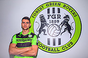 PRESS EMBARGO UNTIL 2000Hrs 10/2. Forest Green Rovers new signing Omar Bugiel, previously at Worthing FC, unveiled at the New Lawn, Forest Green, United Kingdom on 10 February 2017. Photo by Shane Healey.