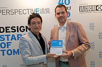 David Gianotten, architect, who runs OMA receives his 40 Under 40 Perspective magazine award.