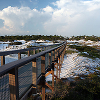 Boardwalk on the beach along the Florida Scenic Highway 30A in the panhandle area of Florida.(AP Photo/Alex Menendez) Florida scenic highway photos from the State of Florida. Florida scenic images of the Sunshine State.