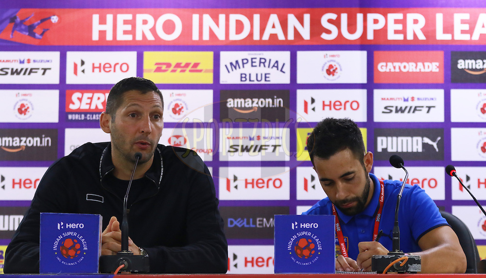 Chennaiyin FC Head Coach Marco Materazzi at PC during match 18 of the Indian Super League (ISL) season 3 between NorthEast United FC and Chennaiyin FC held at the Indira Gandhi Athletic Stadium in Guwahati, India on the 20th October 2016.<br /> <br /> Photo by Saikat Das / ISL/ SPORTZPICS