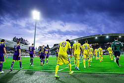 Players coming to the court during football match between NK Maribor and Maccabi Tel Aviv FC (ISR) in Third qualifying round of UEFA Champions League on July 30, 2014 in Stadium Ljudski vrt, Maribor, Slovenia. Photo by Vid Ponikvar / Sportida.com