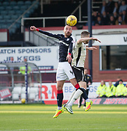 Dundee&rsquo;s James Vincent outjumps Inverness&rsquo; Liam Polworth  Dundee v Inverness Caledonian Thistle in the Ladbrokes Scottish Premiership at Dens Park, Dundee, Photo: David Young<br /> <br />  - &copy; David Young - www.davidyoungphoto.co.uk - email: davidyoungphoto@gmail.com