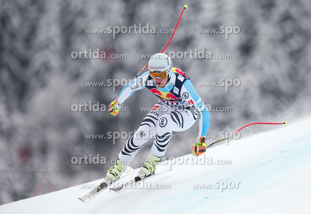 20.01.2015, Streif, Kitzbuehel, AUT, FIS Ski Weltcup, Abfahrt, Herren, 1. Training, im Bild Tobias Stechert (GER) // Tobias Stechert of Germany in action during first practice run for the mens Downhill of Kitzbuehel FIS Ski Alpine World Cup at the Streif Course in Kitzbuehel, Austria on 2015/01/20. EXPA Pictures © 2015, PhotoCredit: EXPA/ Johann Groder