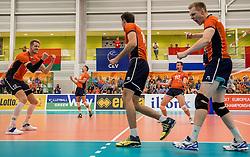 23-09-2016 NED: EK Kwalificatie Nederland - Oostenrijk, Koog aan de Zaan<br /> Nederland wint met 3-0 van Oostenrijk / Robbert Andringa #18, Jeroen Rauwerdink #10, Kay van Dijk #12
