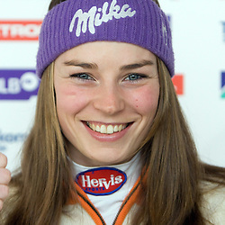 20090216: Alpine Ski - Press conference of Tina Maze after silver medal at WC in Val d'Isere