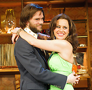 Abigail's Party<br /> by Mike Leigh <br /> directed by Lindsay Posner<br /> at the Menier Chocolate Factory , London, Great Britain <br /> press photocall<br /> 7th March 2012 <br /> <br /> Jill Halfpenny (as Beverley)<br /> Andy Nyman (as Laurence)<br /> Nathalie Casey (as Angela)<br /> Susannah Harker (as Susan)<br /> Joe Absolom (as Tony)<br /> <br /> Photograph by Elliott Franks