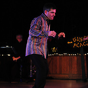 "Josh Hilberman performs in the show ""Ring in the Rhythm! A Jazz & Tap Holiday"" at The Dance Hall in Kittery, ME"