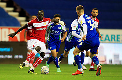 Bristol City's Famara Diedhiou takes on Wigan Athletic's Lee Evans - Mandatory by-line: Matt McNulty/JMP - 21/09/2018 - FOOTBALL - DW Stadium - Wigan, England - Wigan Athletic v Bristol City - Sky Bet Championship