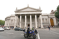 The Bank of Ireland in College Green Dublin Ireland the eighteenth century building was once the Parliament House