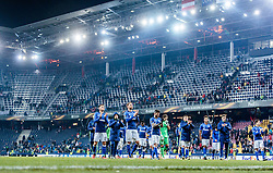 08.12.2016, Red Bull Arena, Salzburg, AUT, UEFA EL, FC Red Bull Salzburg vs Schalke 04, Gruppe I, im Bild Alessandro Schoepf (FC Schalke 04), Benedikt Hoewedes (FC Schalke 04), Junior Caicara (FC Schalke 04), Fabian Giefer (FC Schalke 04), Fabian Reese (FC Schalke 04) // Alessandro Schoepf (FC Schalke 04), Benedikt Hoewedes (FC Schalke 04), Junior Caicara (FC Schalke 04), Fabian Giefer (FC Schalke 04), Fabian Reese (FC Schalke 04) during the UEFA Europa League group I match between FC Red Bull Salzburg and Schalke 04 at the Red Bull Arena in Salzburg, Austria on 2016/12/08. EXPA Pictures © 2016, PhotoCredit: EXPA/ JFK
