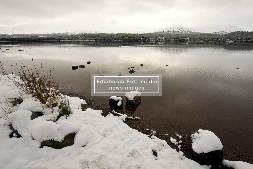 A snowy Loch Morlich in the Cairngorm National park as Storm Doris hits the UK. 24 Feb 2017 (c) Brian Anderson | Edinburgh Elite media