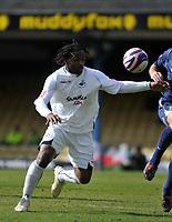 Photo: Tony Oudot/Richard Lane Photography. <br /> Southend United v Swansea City. Coca-Cola League One. 21/03/2008. <br /> Jason Scotland of Swansea