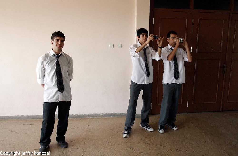 Students in a school attend a presentation in Gaziantep, Turkey.