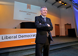 Scottish Lib Dem leader Willie Rennie MSP at the opening of the party's Autumn conference in Dunfermline.<br /> <br /> &copy; Dave Johnston / EEm