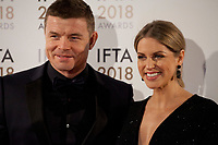 Amy Huberman and Brian O'Driscoll at the IFTA Film & Drama Awards (The Irish Film & Television Academy) at the Mansion House in Dublin, Ireland, Thursday 15th February 2018. Photographer: Doreen Kennedy