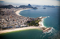 View of Ipanema, Arproador, Copacabana and Leme neighborhoods with Sugar Loaf in the far distance, in Rio de Janeiro, Brazil, on Saturday, Feb. 2, 2013.