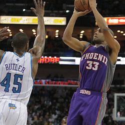 03 December 2008: Phoenix Suns forward Grant Hill (33) shoots over New Orleans Hornets guard Rasual Butler (45) during a 104-91 victory by the New Orleans Hornets over the Phoenix Suns at the New Orleans Arena in New Orleans, LA..
