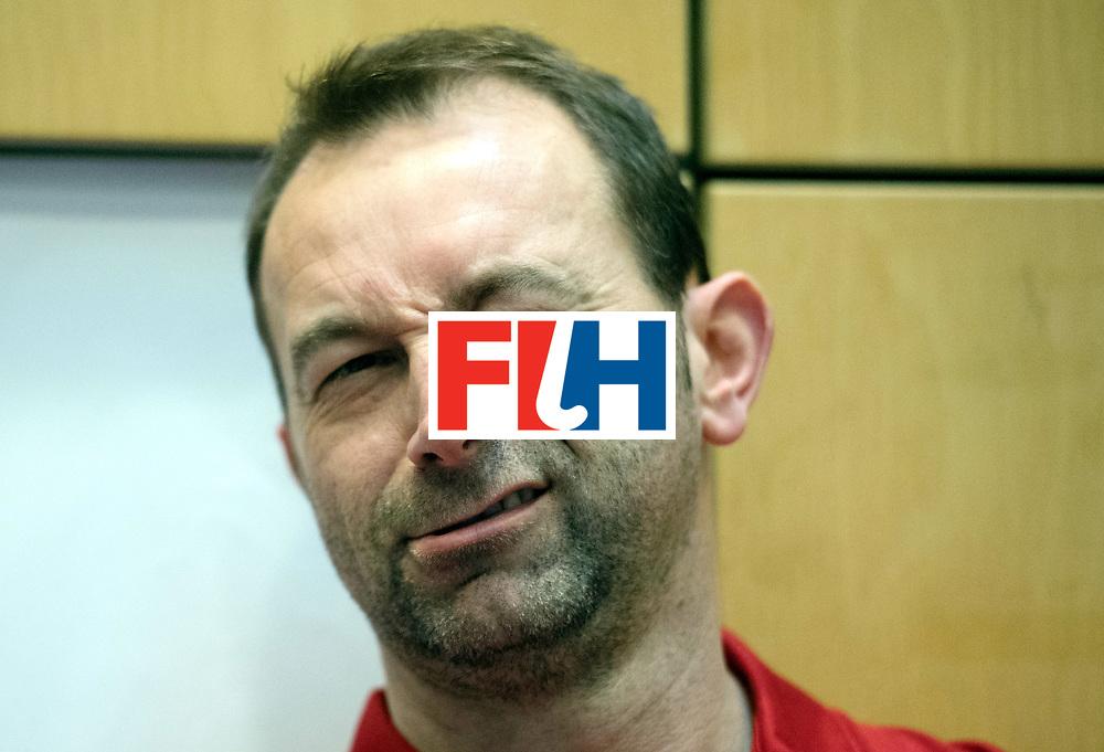 BERLIN - Indoor Hockey World Cup<br /> Trinidad &amp; Tobago - Australia<br /> foto: Umpire Lee Barron<br /> WORLDSPORTPICS COPYRIGHT FRANK UIJLENBROEK