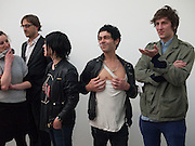SUE WEBSTER; TIM NOBLE; HENRY HUDSON, Marc Quinn exhibition opening. Allanah, Buck, Catman, Michael, Pamela and Thomas. White Cube Hoxton Sq. London. 6 May 2010.  *** Local Caption *** -DO NOT ARCHIVE-© Copyright Photograph by Dafydd Jones. 248 Clapham Rd. London SW9 0PZ. Tel 0207 820 0771. www.dafjones.com.<br />