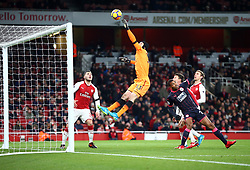 November 29, 2017 - London, England, United Kingdom - Arsenal's Petr Cech (Orange)..during Premier League match between Arsenal and Huddersfield Town at Emirates Stadium, London,  England on 29 Nov   2017. (Credit Image: © Kieran Galvin/NurPhoto via ZUMA Press)