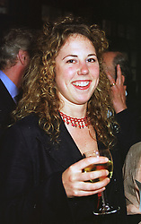 MISS CHARITY CREWE daughter of the late Quentin Crewe,  at a party in London on 17th June 1999.MTK 34