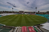 General view of the ground during the Specsavers County C'ship Div One match at the Kia Oval, London<br /> Picture by Simon Dael/Focus Images Ltd 07866 555979<br /> 11/05/2018