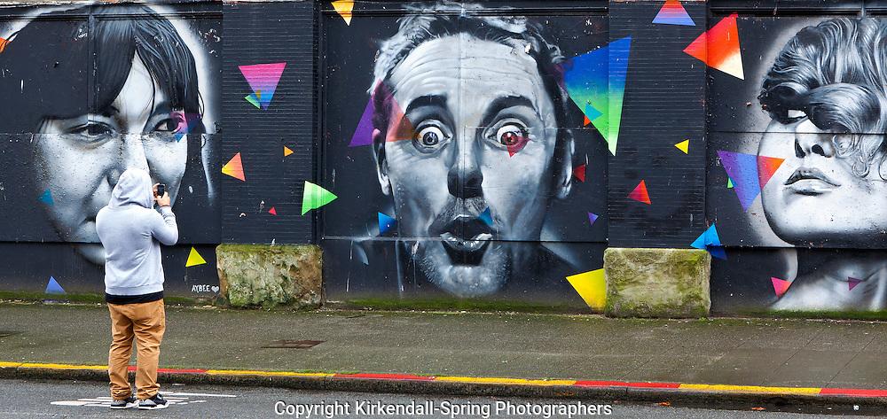 WA07420-00...WASHINGTON - Street art along South Main Street in Seattle.