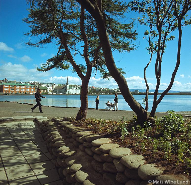 &Uacute;ts&yacute;ni yfir Tj&ouml;rnina fr&aacute; &thorn;eim sta&eth; &thorn;ar sem n&uacute; er R&aacute;&eth;h&uacute;s Reykjavikur, 1967<br /> <br /> View over the Lake from the place where Reykjav&iacute;k City Hall now stands, 1967