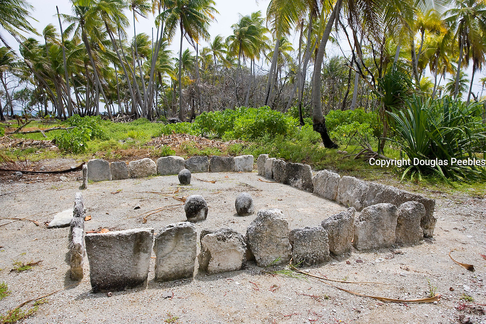 Marae, Fakarava, Tuamotu Islands, French Polynesia<br />