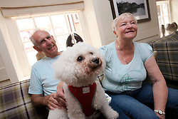 UK ENGLAND BOSTON 7SEP16 - Retirees Michael (80) and Betty Damms (81, R)  with their dog Trixie (5) at the White Heart Coffee House in Boston town centre.<br /> <br /> jre/Photo by Jiri Rezac<br /> <br /> © Jiri Rezac 2016