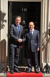 © Licensed to London News Pictures. 15/07/2013 London, UK. Prime Minister David Cameron greets the President of Burma, Thein Sein on the steps of 10 Downing Street.<br /> Photo credit : Simon Jacobs/LNP.
