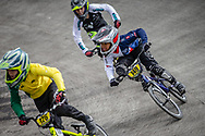 #149 during practice at the 2018 UCI BMX World Championships in Baku, Azerbaijan.
