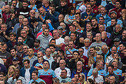 West Ham United FC supporters during the Premier League match between West Ham United and Manchester United at the London Stadium, London, England on 22 September 2019.