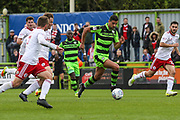 Forest Green Rovers Omar Bugiel(11) runs forward during the EFL Sky Bet League 2 match between Forest Green Rovers and Accrington Stanley at the New Lawn, Forest Green, United Kingdom on 30 September 2017. Photo by Shane Healey.