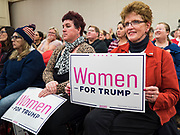 16 JANUARY 2020 - DES MOINES, IOWA: Women at the Women for Trump rally in Airport Holiday Inn in Des Moines. About 200 women attended the event, which featured Lara Trump, Mercedes Schlapp, and Kayleigh McEnany, surrogates on the campaign trail for President Donald Trump.         PHOTO BY JACK KURTZ