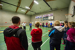 Pictured: Judy Murray<br /> At St George's School for Girls in Edinburgh today, as part of World Tennis Day, Judy Murray started the training of 60 teachers from schools all over Scotland in how to deliver tennis for girls in secondary schools to help promote girls' tennis <br /> <br /> Ger Harley | EEm 6 March 2017