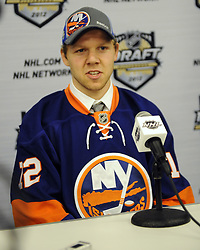 Griffin Reinhart of the Edmonton Oil Kings was the  fourth overall pick of the New York Islanders  in the 2012 NHL Entry Draft in Pittsburgh, PA on Friday June 22. Photo by Aaron Bell/CHL Images