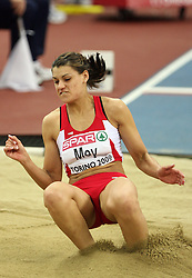 Turkish long jump athlete Karin Melis Mey  in the Qualification at the 1st day of  European Athletics Indoor Championships Torino 2009 (6th - 8th March), at Oval Lingotto Stadium,  Torino, Italy, on March 6, 2009. (Photo by Vid Ponikvar / Sportida)